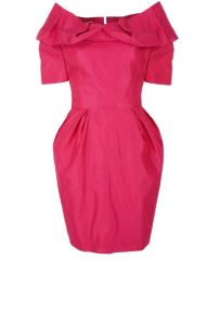 Proud Shoulder Dress - Coral Pink