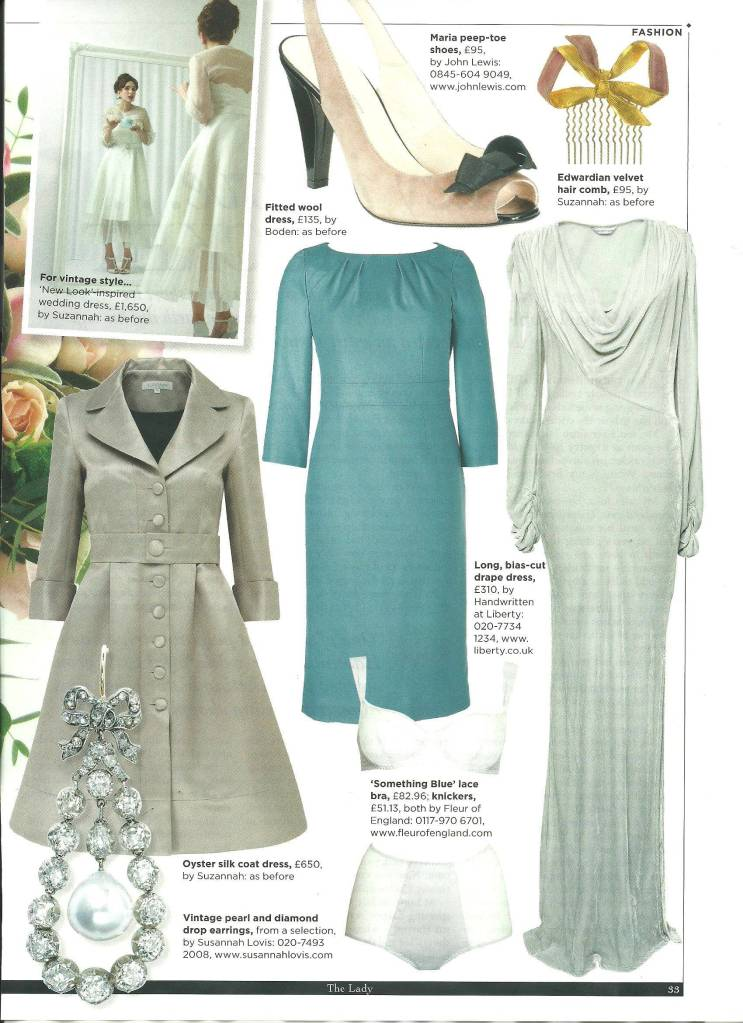 Suzannah Vintage Inspired Wedding Dresses in todays press..x – THE ...