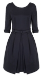 Navy Dancehall Dress by Suzannah.com Cotton Elastane