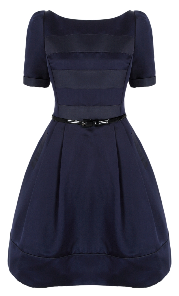 Fifties Slash neck navy