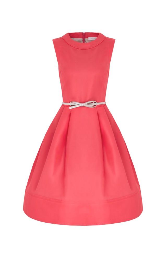 Silk Gazar 1950s influence Doris Day dress in sumptuous Watermelon..x