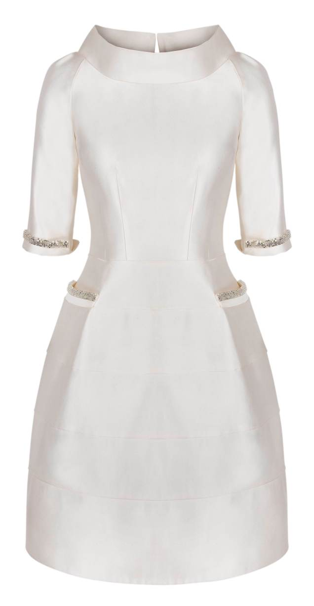 White Retro Couture Dress
