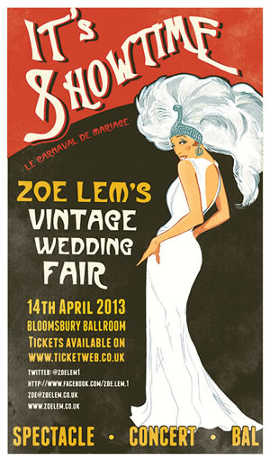Zoe Lem Vintage Wedding Fair at Bloomsbury Ballrooms