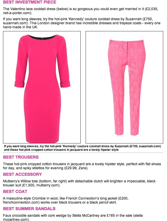 The Suzannah Kennedy Dress Best INvestment Pink Dress.