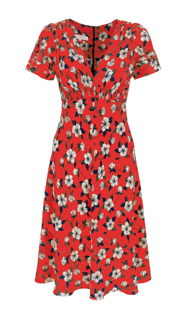 The Pop Hibiscus '30s inspired beautiful silk tea dress..x