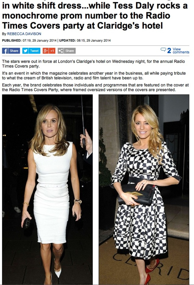 Tess Daly reported in the Daily Mail. Spotted at the Radio times awards..x