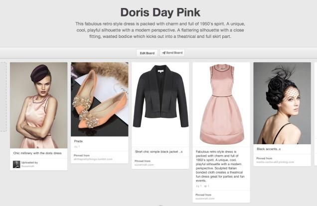 Doris Pink moodboard
