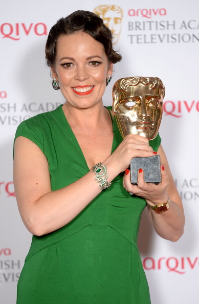 Olivia Colman Collects her BAFTA award in SUZANNAH