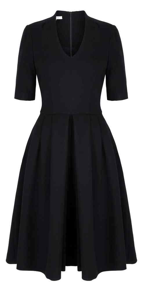 Townhall Dress Black Front