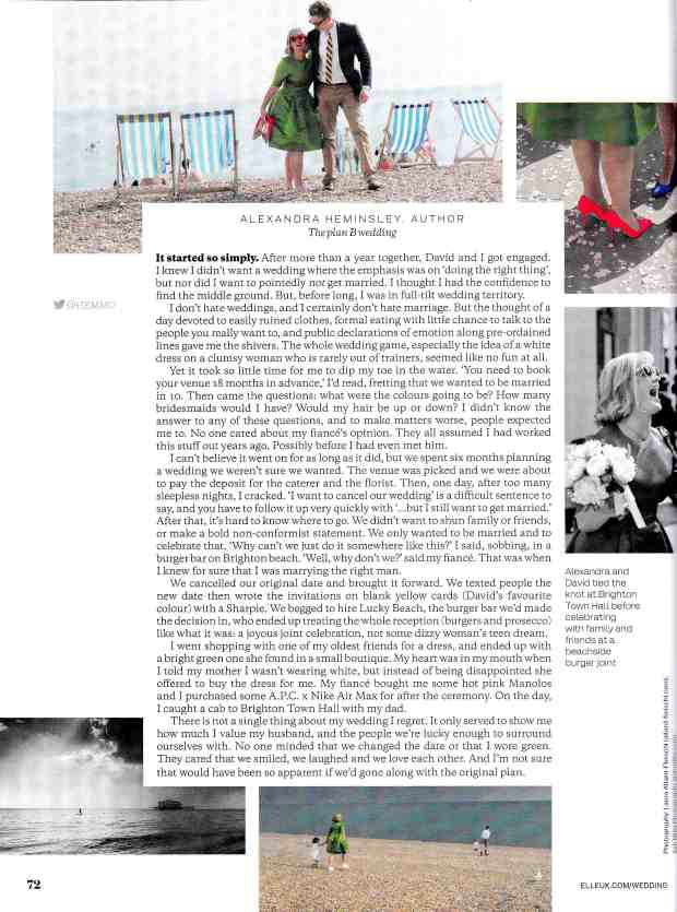 Alex elle weddings article