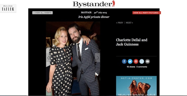 Charlotte Dellal and Jack Guiness