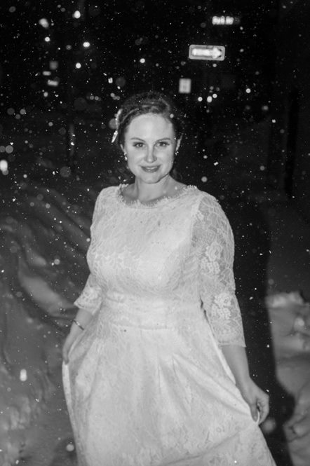 Lizzie Gill in the snow
