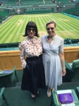 Gloria Budd & Suzannah Crabb Royal Box Wimbledon