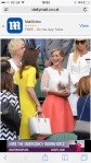 HRH Countess of Wessex wears bespoke Suzannah to Wimbledon